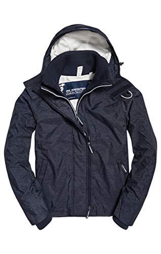 Blue Superdry Pop Sports Arctic new Men's Zip Windchea Un4 Hooded ecru Navy Marl Jacket 88x61gwfq