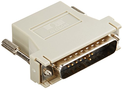 RJ45 to DB25M Cross Converter Comp with All Cyclades Serial Prdts ()