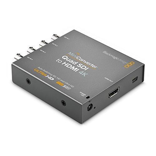 Dual Link Sdi Converter - Blackmagic Design Mini Converter Quad SDI to HDMI 4K (CONVMBSQUH4K2)