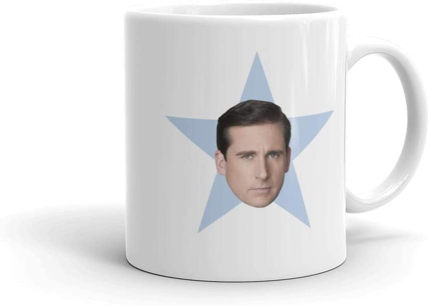 The Office Michael Star White Mug - 11 oz. - Official As Seen On Mug