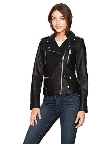Asymmetrical Leather Jacket - 7