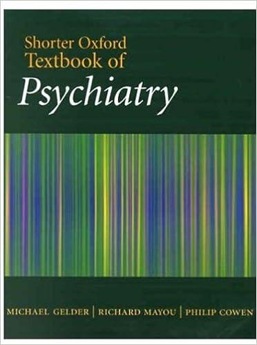 Shorter Oxford Textbook of Psychiatry: 9780192632418 ...