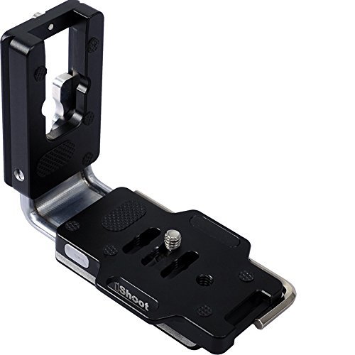 (Vertical Quick Release Plate L Bracket Camera Holder Grip for Arca Fit Tripod Ball Head and Canon Nikon Sony Fuji Pentax Olympus Sigma SLR/SLT)