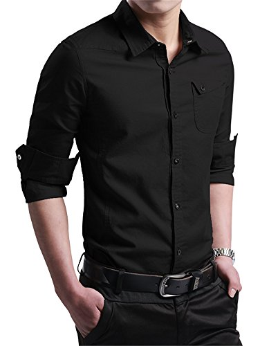 XTAPAN Casual Cotton Sleeve Button