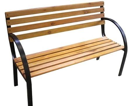 Panchine Da Giardino Legno E Ghisa : In legno panchina da giardino a posti in ghisa gambe mobili in