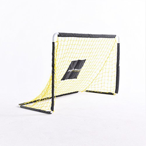 PodiuMax 4ft Metal Tube Soccer Goal with Quick Assembly, Best for Pickup or Scrimmage - Goal Metal Hockey