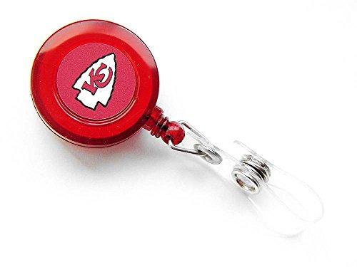 Aminco International Kansas City Chiefs Retractable Badge Reel Id Ticket Clip Nfl