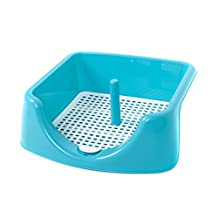 """Favorite 18"""" High Fence Dog Training Tray with Post Included, Blue"""