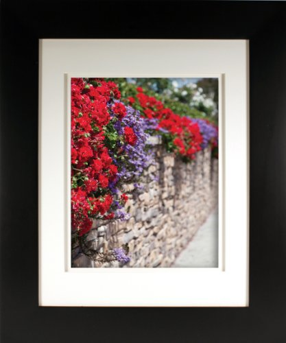 Artcare By Nielsen Bainbridge 8x10 Mesa Collection Archival Matte Black Frame With White Mat For 11x14 Image #RW19MEMBS. Includes: UV Glazed Glass and Anti Aging - Frame Uv Glass
