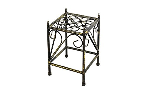 ORE International LB-1705 LB-1705 Plant Stand, Black/Gold