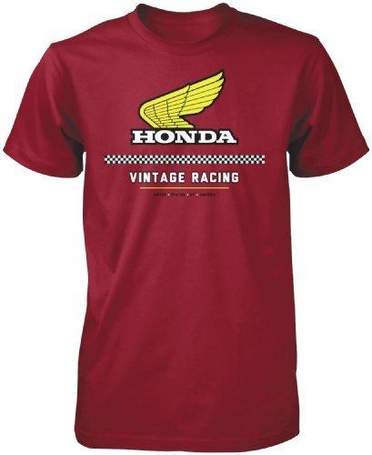 Honda Mens Vintage Racing Short-Sleeve Shirts Large (Honda Racing Shirts)