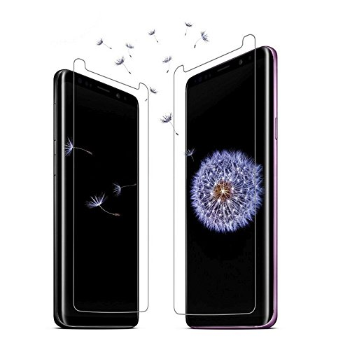 [2-Pack] Galaxy S9 Plus Tempered Glass - [Bubble Free] [Case Friendly] [Anti Fingerprint] [High Impact] [9H Hardness] Screen Protector for Samsung Galaxy S9 Plus [Easy Installation] Non Full Coverage