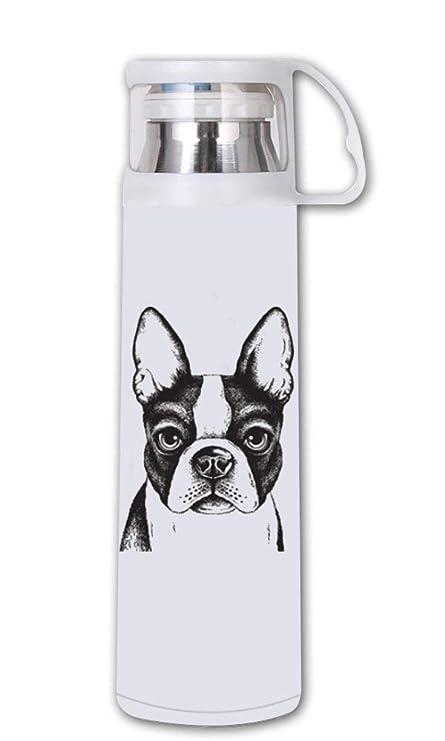 Amazon.com: COL DOM Thermos Boston Terrier- Botella de agua ...