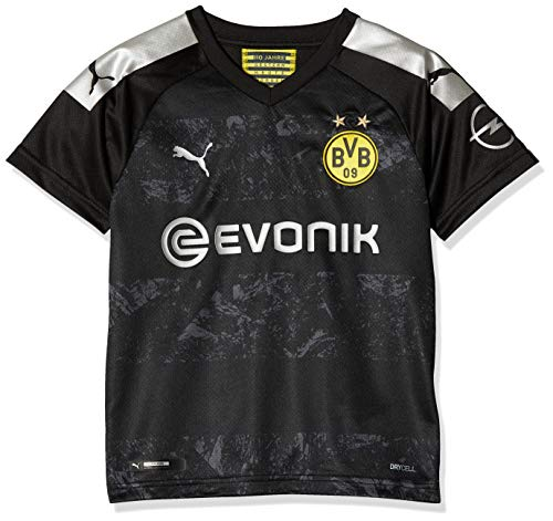 PUMA Unisex Kids BVB Away Shirt Replica Jr with Evonik Logo with Opel Logo Jersey