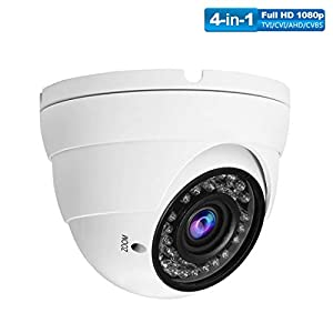 1080P 4-in-1 CCTV HD Security Dome Camera,(TVI/AHD/CVI/CVBS) 2.8-12mm Lens Varifocal Wide Viewing Angle Analog Security…