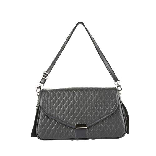 Siera Dog Bag - Black Quilted