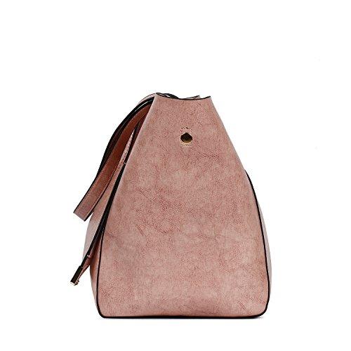 Bags Leather Bags Shoulder Ephraim Bags Women Large Traveling Bags Shopping Handbags Pink Capacity Tote PU qPHwzxt