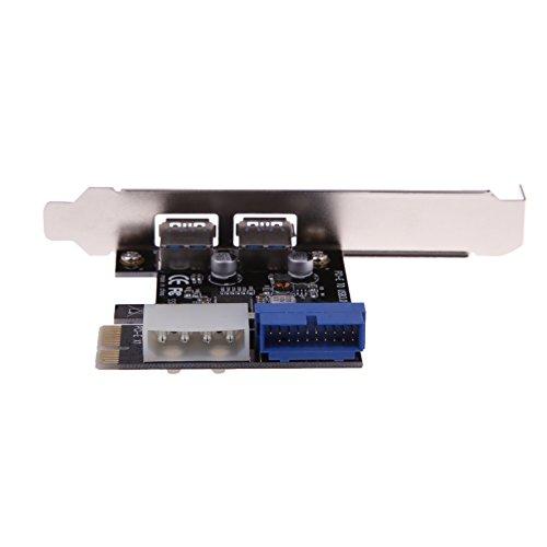VT BigHome USB 3.0 PCI-E Expansion Card External 2 Port USB3.0 + Internal 19pin Header PCIe Card 4pin IDE Power Connector by VT BigHome (Image #2)