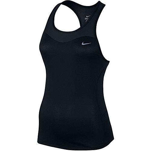 (Nike Women's Technical Running Tank Top (Large, Black))
