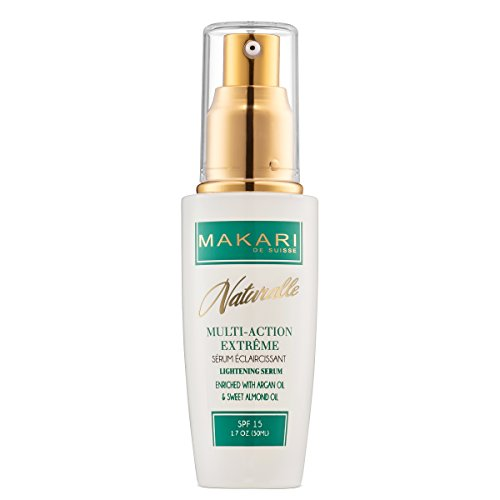 Makari Naturalle Multi-Action Extreme Skin Lightening Serum 1.7oz – Moisturizing & Whitening Face Serum with Argan Oil & SPF 15 – Hydrating & Regulating Treatment for Acne, Dark Spots