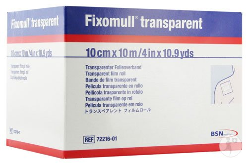 Fixomull Transparent Film Dressing Retention Tape 4'' x 10.9yds (Each), BSN Medical # 72216-01 by BSN Medical