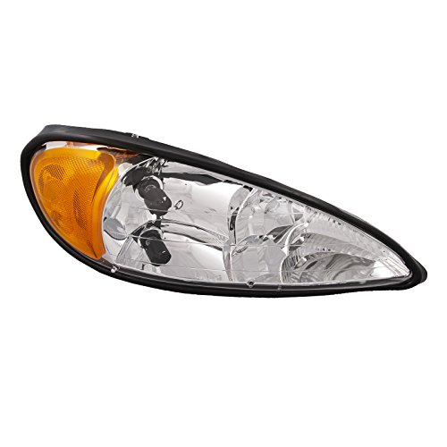 Headlights Depot Replacement for Pontiac Grand AM Headlight OE Style Replacement Headlamp Passenger Side New