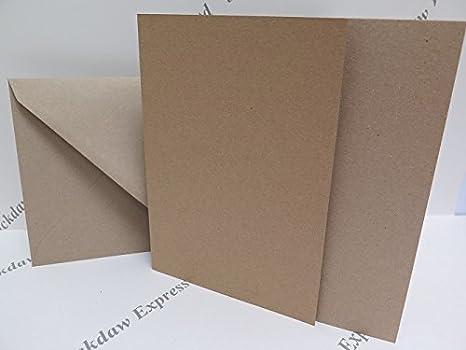 Amazon.com: JackDaw Express 25 x Reciclado Única Tarjeta ...