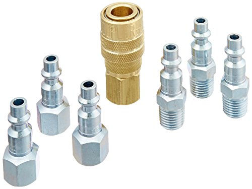 "Milton S-212 1/4"" NPT M Style Coupler and Plug Kit - 7 Piece"