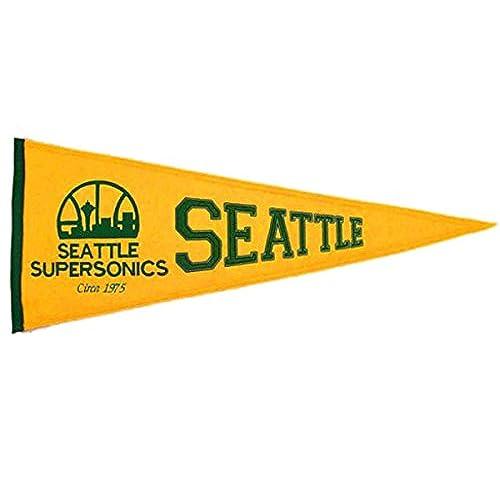 Seattle Super Sonics - NBA Basketball Hardwood Traditions (Pennants)