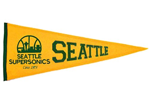 Seattle Super Sonics - NBA Basketball Hardwood Traditions (Pennants)