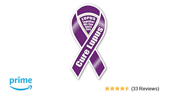 """4/""""-10/"""" CURE LUPUS AWARENESS Find a Cure CAR RIBBON MAGNET support"""