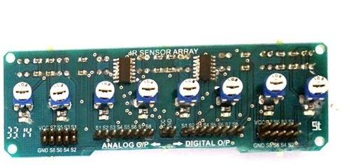 REES52 IR SENSOR ARRAY OF 8 - Analog and Digital FOR LINE