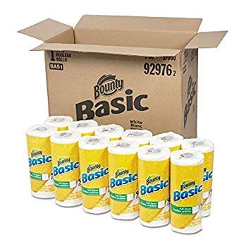 (Bounty Basic Paper Towels, 10.19 x 10.98, 1-Ply (44 sheets per roll, 30 rolls per)