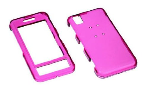 - Transparent Hot Pink Snap-On Hard Cover Protector Case for Sprint Samsung Instinct M800