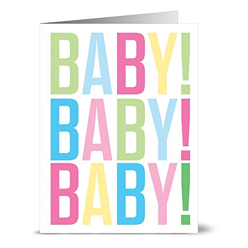 Baby Baby Baby - 36 Note Cards - Blank Cards - Ivory Envelopes Included