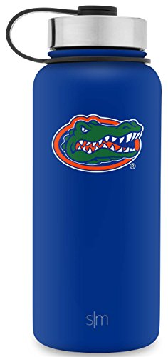 Simple Modern 32oz Summit Water Bottle - Florida Gators Vacuum Insulated 18/8 Stainless Steel Travel Mug - - Container Gator