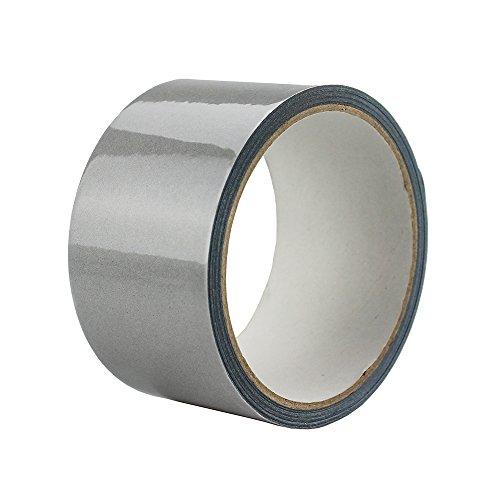 Elastic Silver Reflective Tape Iron On Fabric Heat Transfer Vinyl Film DIY 2