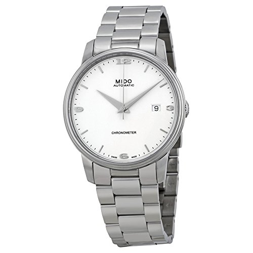 Mido Women's MIDO-M0104081101100 Baroncelli III Analog Display Swiss Automatic Silver Watch