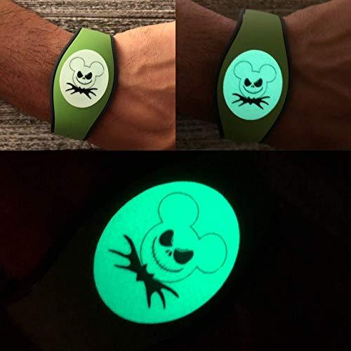 Disney Magic Band 2.0 Decal Magic Band Skin Glow In The Dark Halloween -