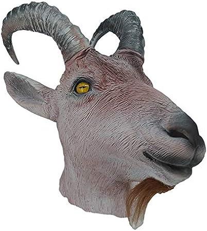Hengyutoy Mask Máscara de cusfull Novedad Látex de látex de Caucho de Cabra de Oveja para Disfraz de Fiesta de Navidad de Halloween