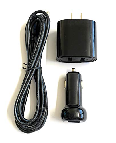 Home Wall USB AC Adapter/Charger and CAR USB DC Adapter/Charger Kit for Midland Bluetooth BTX1FMT/BTX1FMS Basic Intercom System