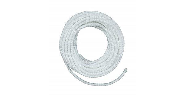 Lehigh Group ND6100X 3//16 X 100/' White Nylon Diamond Braid Rope