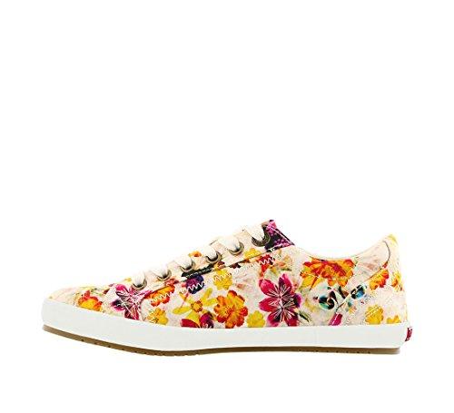 Taos Chaussures Femmes Star Fashion Sneaker Blanc Floral Multi