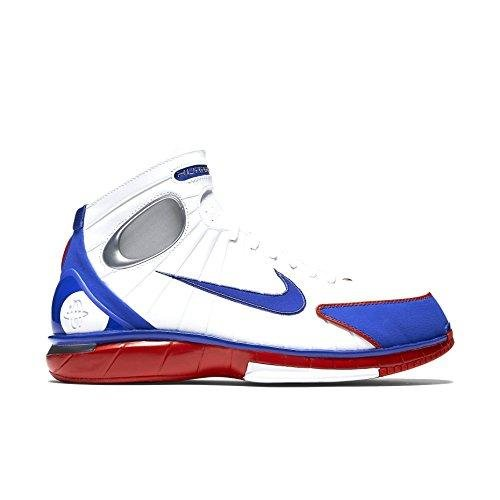 - Nike Men's Air Zoom Huarache 2K4 White/Red/Metalic Silver 308475-100 (SIZE: 11.5)