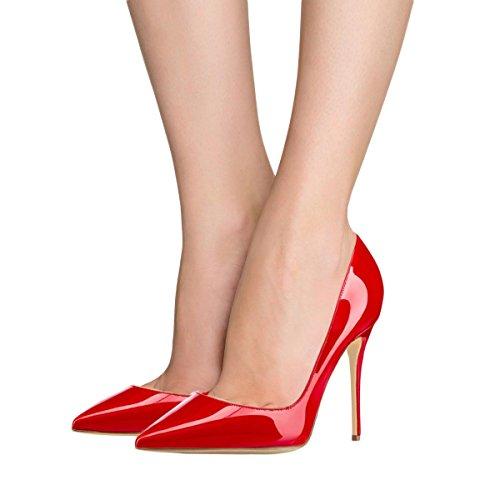 Tacco Donne 5 Scarpe Partito Lutalica 5 Toe Stiletto Dimensioni Vernice Pompe Vestito Con Rossa Sexy Punte 12 Alto Ci 44tqwZr