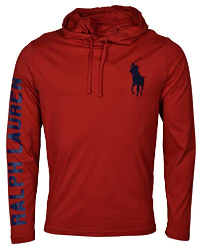 Ralph Lauren Polo Men's Long Sleeve Graphic Jersey Hoodie – XXL – Red