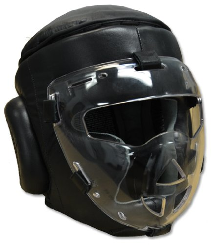 Safety- Shield Training Headgear, with removable Plexiglass Mask (Adult) ()