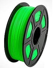 CC DIY PLA 3D Printer Filament Dimensional Accuracy +/- 0.02 mm 1kg Spool 1.75 mm Suits Most 3D Printers Tevo Tarantuala CR10 Mendel Prusa and More, Also Suitable for Most 3D pens (Green)
