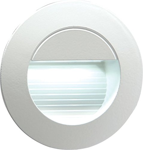 5 230V LED Staircase Light Recessed Wall Light For Outdoor Round Warm White