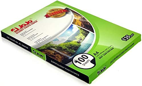 100 Sheets JOJO A4 Size Waterproof High Glossy Inkjet Photo